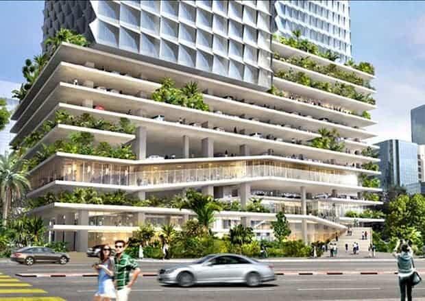 Angkasa Raya, designed by Büro Ole Scheeren for Kuala Lumpur. (Büro Ole Scheeren)
