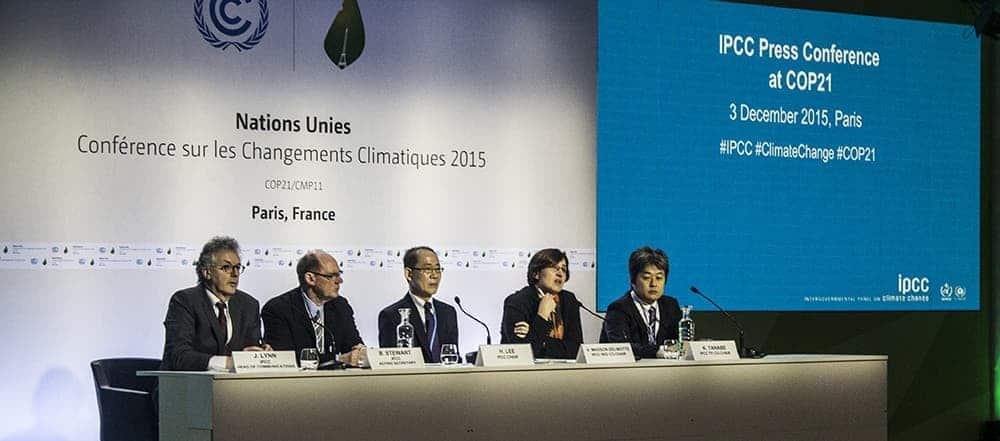 cop21 IPCC panel