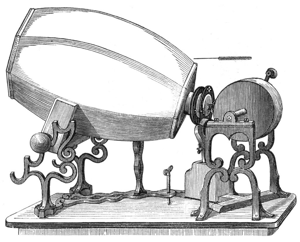 The phonautograph is the earliest known device for recording sound. Illustration: Wikipedia.