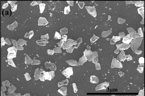 A mixture of nanodiamond and microdiamond Q-carbon created using the new technology. Photo by AIP/ALP Materials