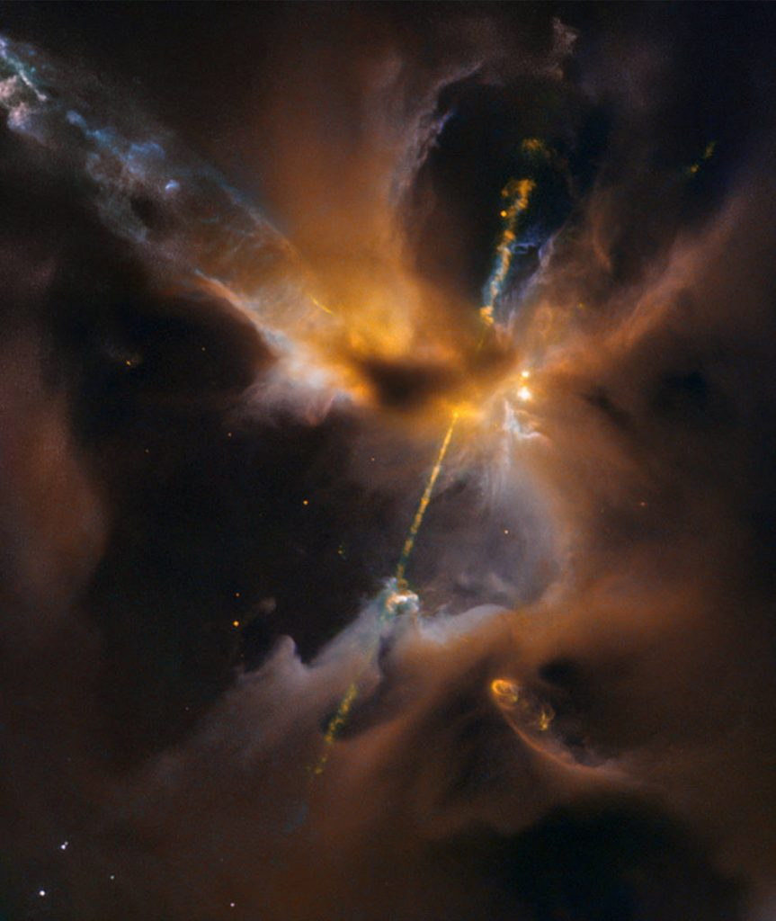 Hubble light saber