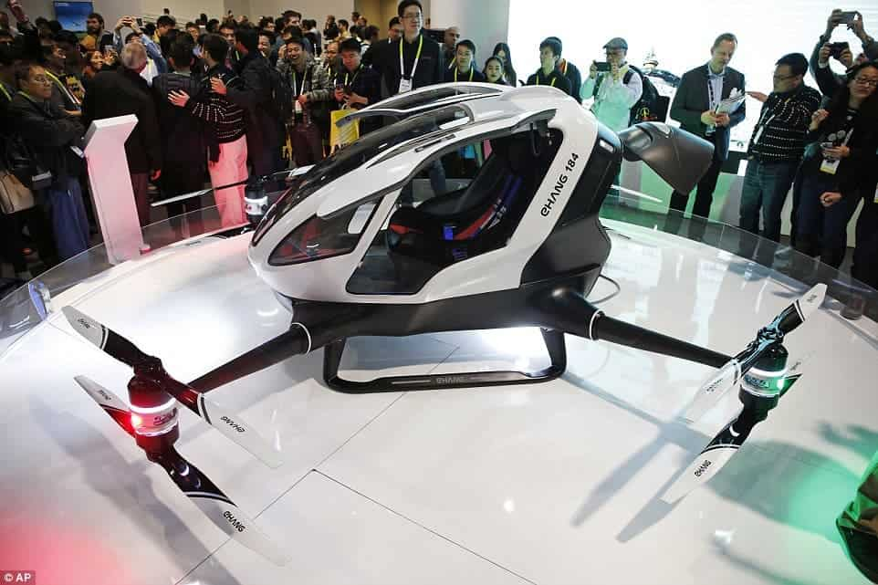 The first 'Autonomous Aerial Vehicle' for transporting people.