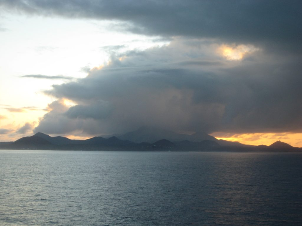 Ascension island seen from the South. Image via Wikipedia.