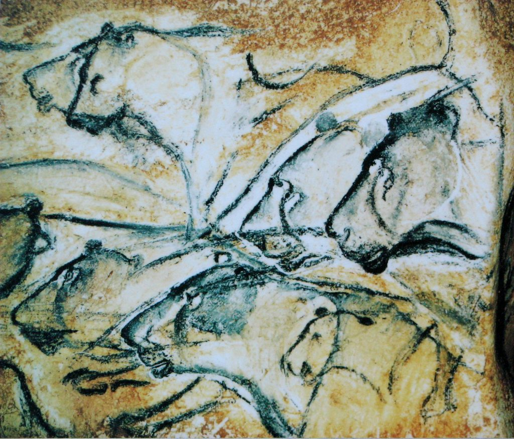 Replica after painting in the Chauvet Cave. Image via Wikipedia.