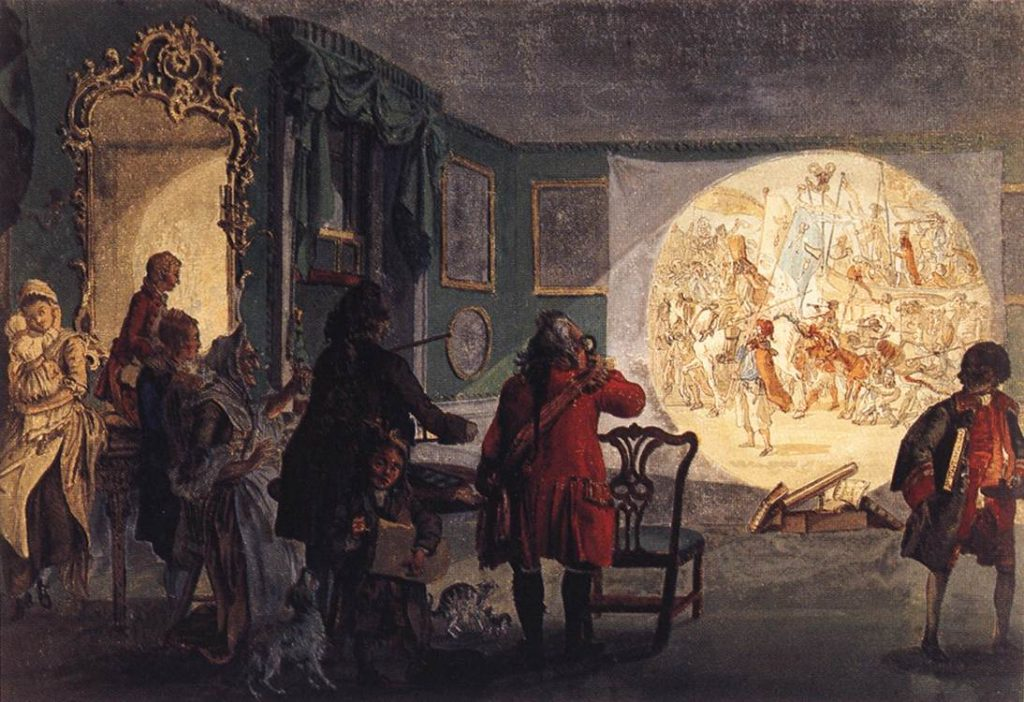 The Lantern Magica by Paul Sandby, circa 1760. (Image public domain.)