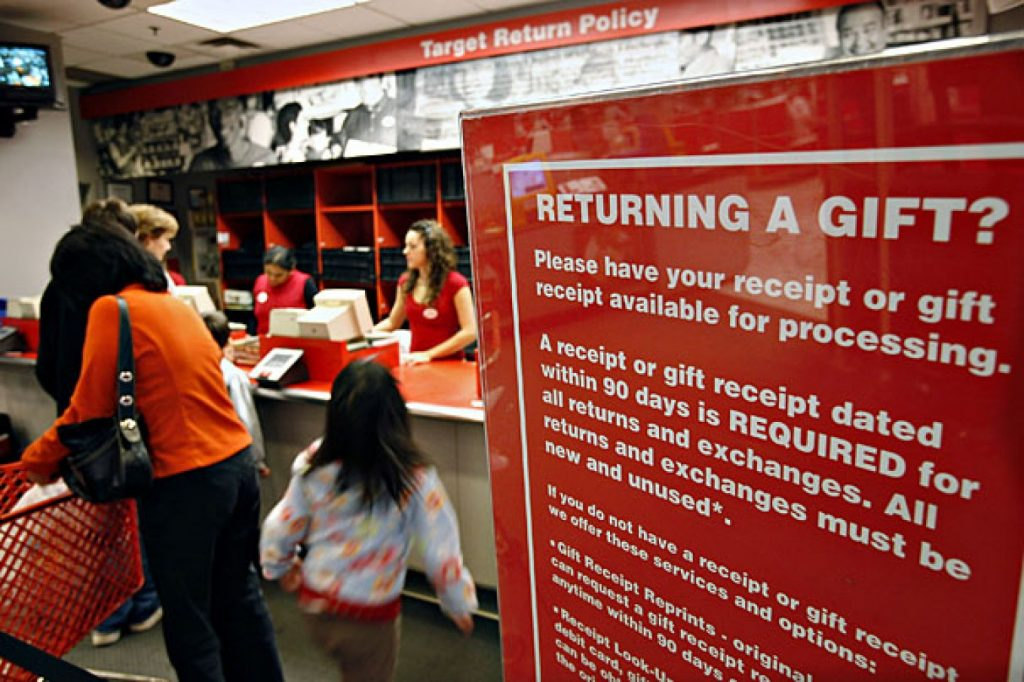 Gifts are returned at the Target store in Edison, N.J. (Jeff Zelevansky/Bloomberg)