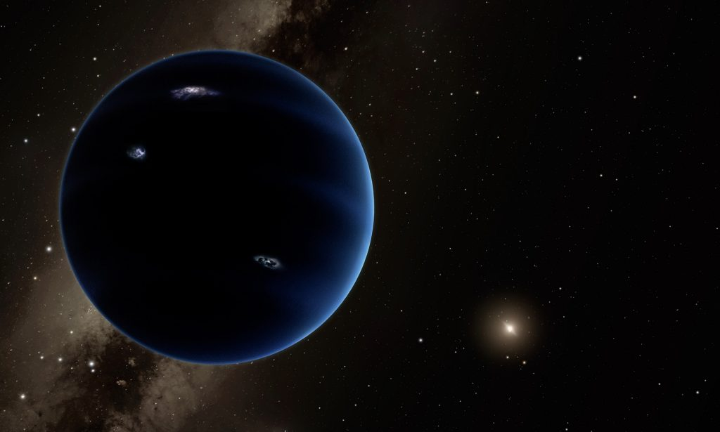 Artist impression of Planet Nine.