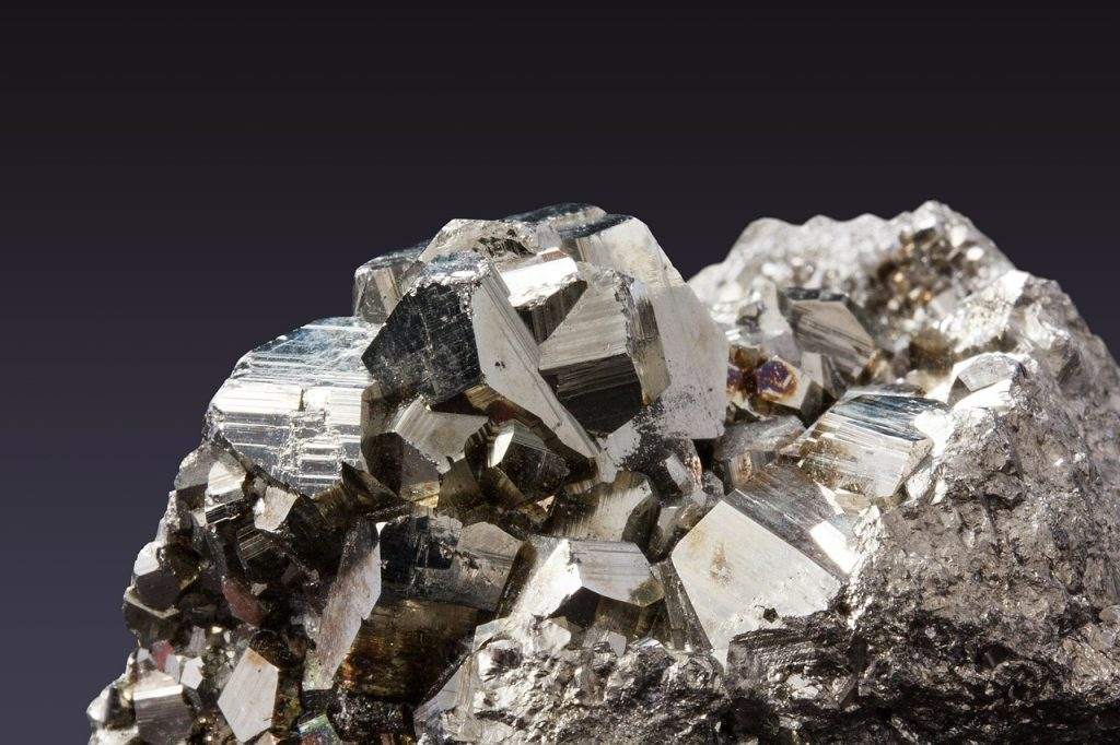Pyrite, a common mineral. Image: Pixabay