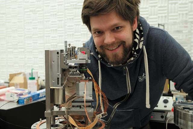 IBM scientist Fabian Menges with his invention. Image: IBM