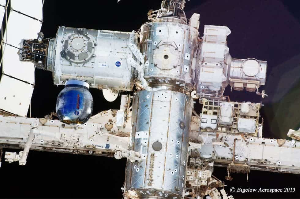 Where the Beam inflatable module will be attached on the ISS. Image: Bigelow Aerospace
