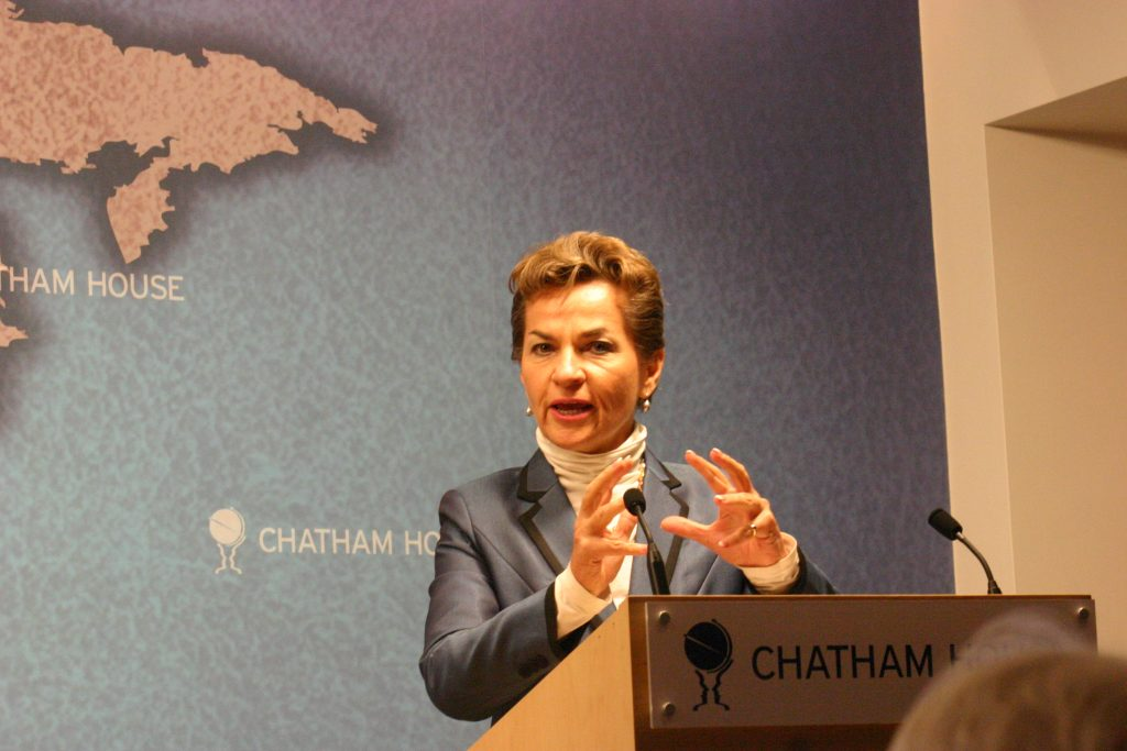 Figueres speaking at Chatham House in October 2012. Credit: Wikimedia Commons