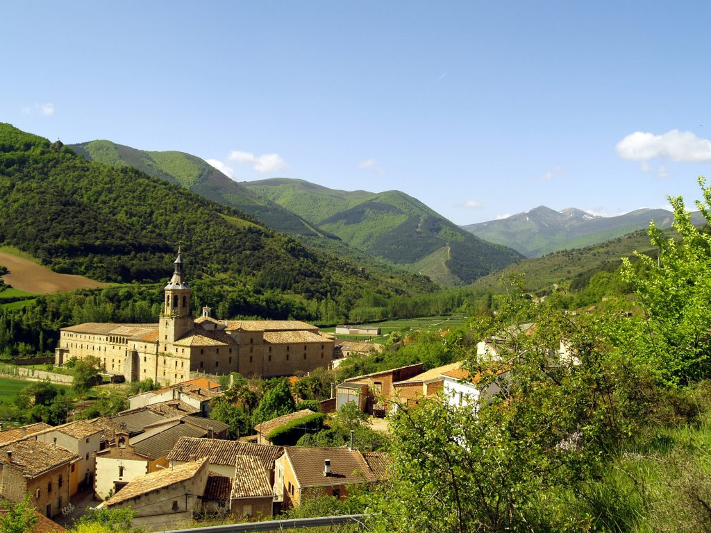 Spain: Monasterios de San Millán de Yuso is a monastery village in La Rioja area in Spain. Millions of years ago, this was a wet plain and dinosaur tracks can be found in several areas in the mountains.