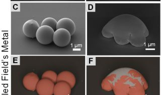 Liquid-metal particles contained by an oxidated thin layer. Credit: Scientific Reports