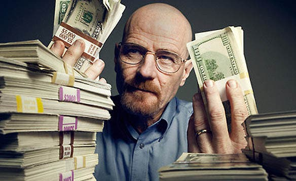 Walter White, a chemistry teacher goes breaking bad after he's diagnosed with cancer. Image: CNBC