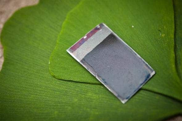 This is what the artificial leaf looks like. Credit: MIT