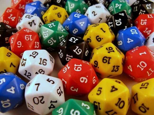 dice random numbers