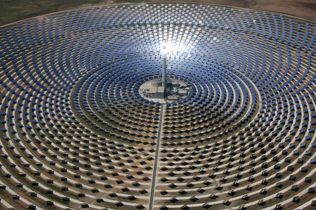 The 'Gemasolar' CSP plant situated near Seville in Spain. Credit: TORRESOL ENERGY