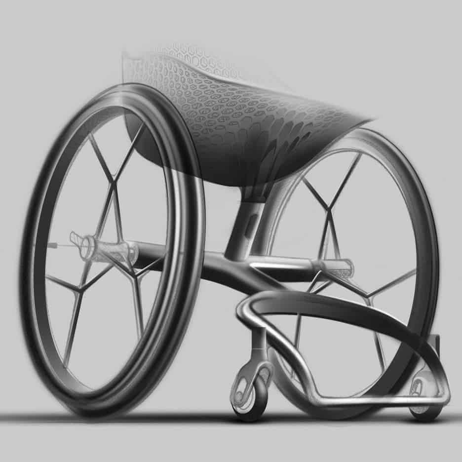 Designers unveil world 39 s first 3d printed consumer wheelchair for Luxury wheelchairs