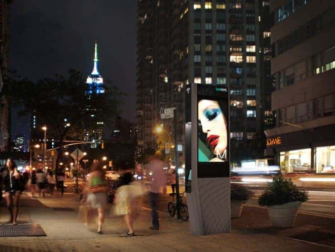 A Link kiosk in NYC. Credit: Recode