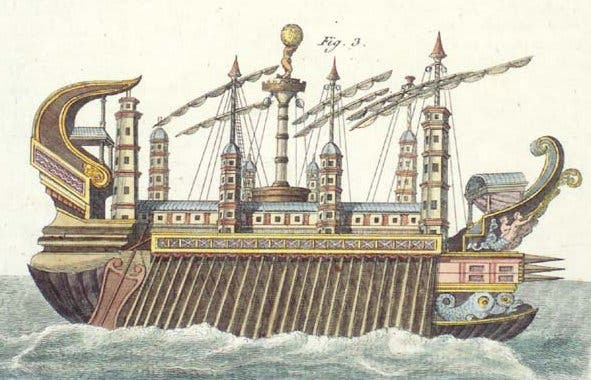 Artist impression of the Syracusia.