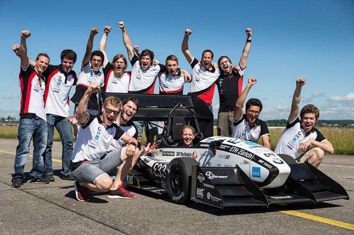 The Formula Student broke a new record for the fastest acceleration. Credit: ETH Zurich / Alessandro Della Bella