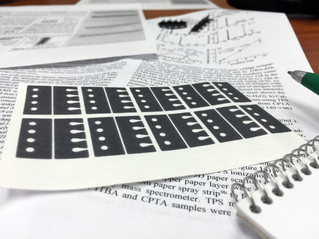 The paper strips can be made as easily as printing documents. The technology is currently pending a patent. Credit:  Pam Frost Gorder, courtesy of The Ohio State University.