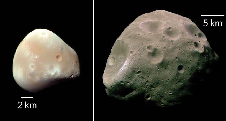 Mars likely had many moons formed in the wake of a giant asteroid impact