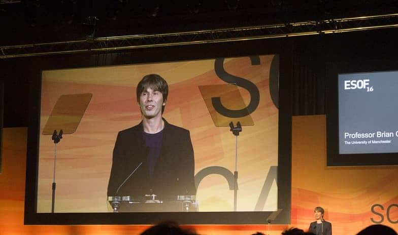 Brian Cox addressing the audience at the ESOF 2016 Opening Ceremony. Credit: Andrei Mihai for ZME Science