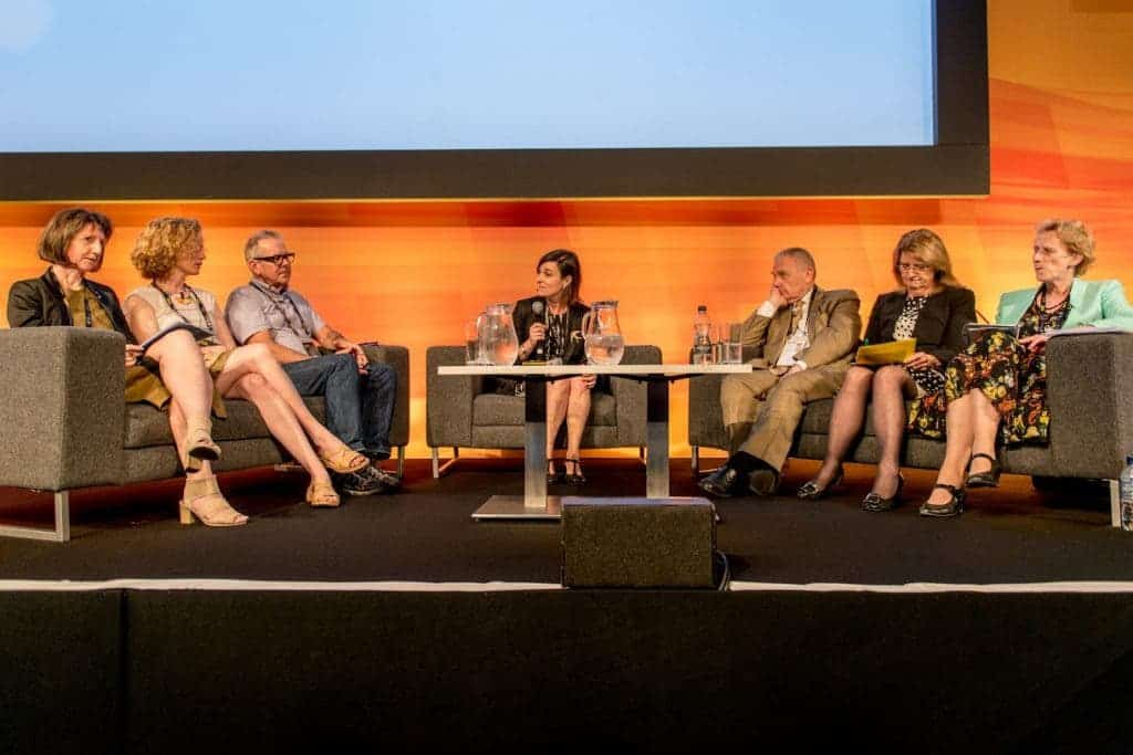 A panel discussion during the 'Women in Science: how to reboot the system?' session at the EuroScience Open Forum at Manchester Central, in Manchester, United Kingdom on Monday 25th July 2016. Credit: Matt Wilkinson Photography