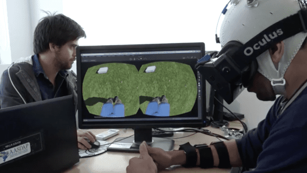 The VR simulation stimulated brain connections involved in movement. Credit: AASDAP/LENTE VIVA FILMES