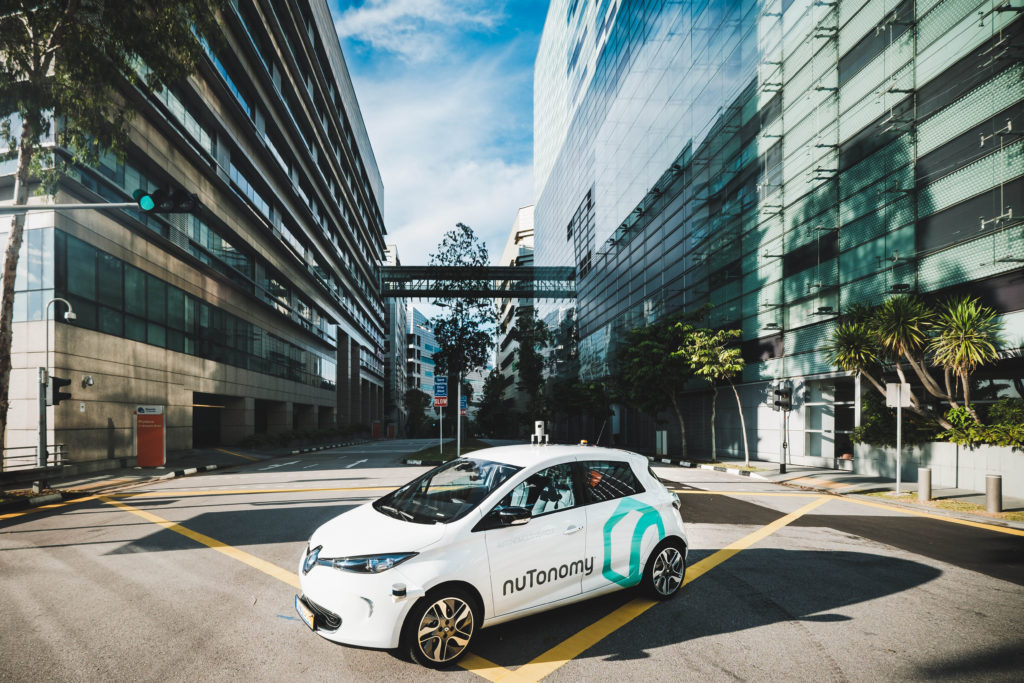 The first ever autonomous taxis will be available in Singapore. Image credits nuTonomy.