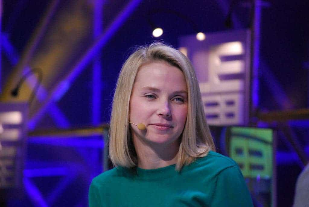 Marissa Mayer is a former Google executive who joined Yahoo! in 2012 as CEO. However, ever since she took over the company's financial status went from bad to worse. In four years she earned well over $150 million in cash and Yahoo! stock. Credit: Wikimedia Commons