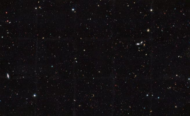 A patch of the sky captured by the Hubble Space Telescope shows thousands of galaxies stretched over billions of light years. Only 10 percent of galaxies are observable with telescopes, according to the Great Observatories Origins Deep Survey (GOODS).