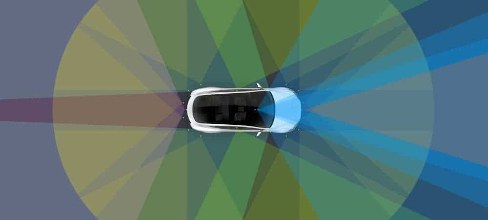 Tesla EVs will have eyes everywhere. the 'brains' to matche them too. Credit: Tesla