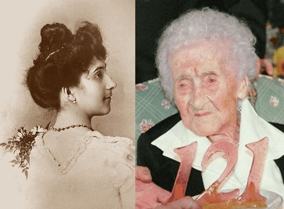Jeanne Louise Calment on her 121st birthday, shortly before she died. Calment is still the oldest person that we know of that has ever lived. Credit: Wikimedia Commons