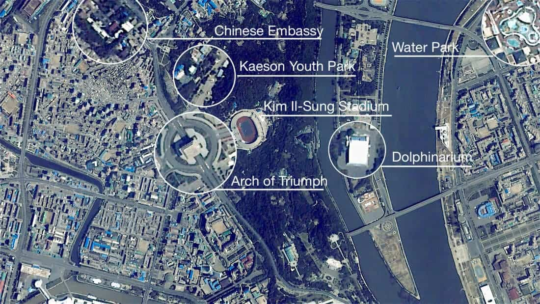 Awesome Satellite Imagery Shows Surprising Images Of North Korea - Satellite picture of