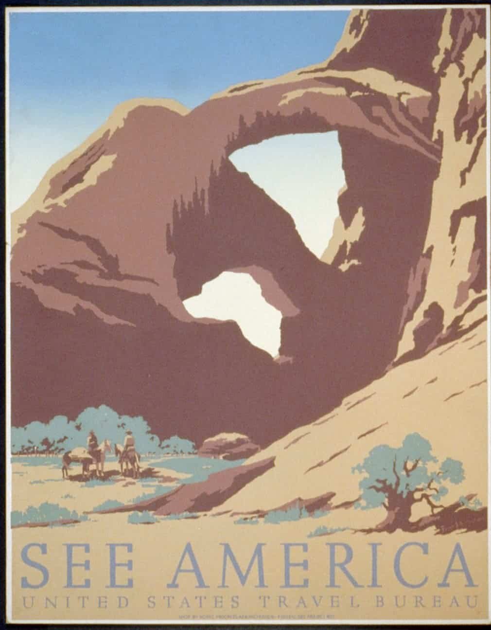 The Arches national park in Utah, late 1930s.