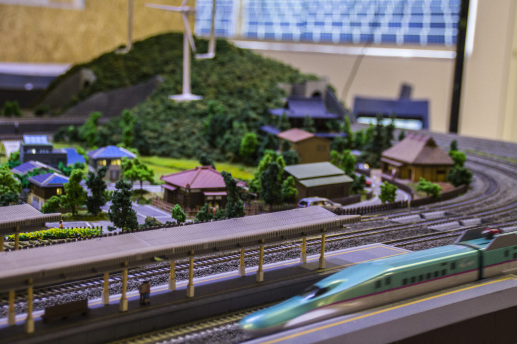 The Japan delegation presented scale models of their highly advanced and efficient railway systems. Image credits: ZME Science. Permission granted to share with attribution.