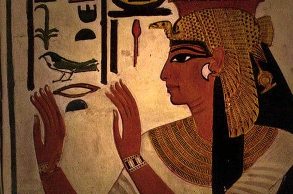 During the nineteenth Dynasty a queen by the name of Nefertari was in power with Ramesses the Great. Pictured is a painting of Nefertari found in her tomb. Credit: Wikimedia Commons.