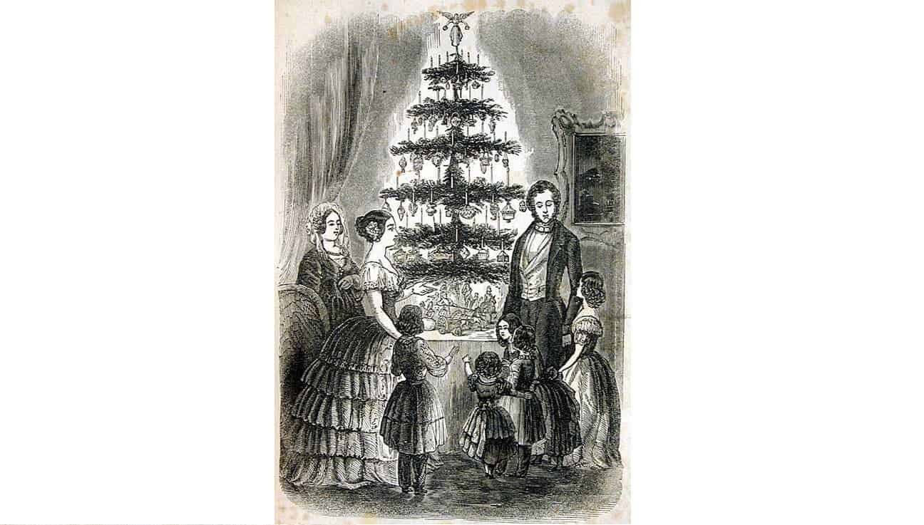 in the 1840s and 1850s queen victoria and prince albert popularised a new way of celebrating - Origin Of Christmas Tree