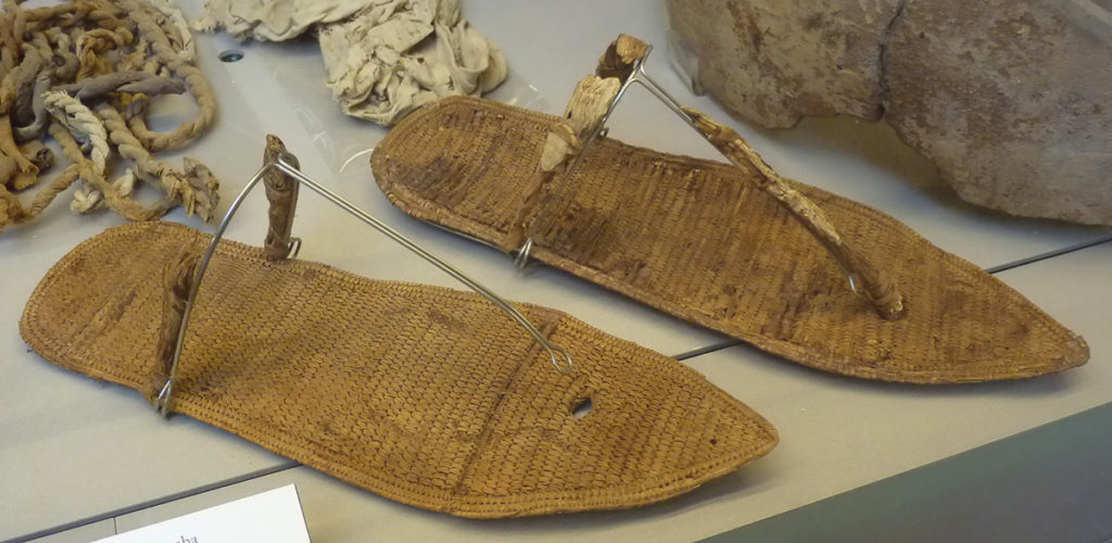 Pair of sandals retrieved from the tomb. Credit: Turin Museum