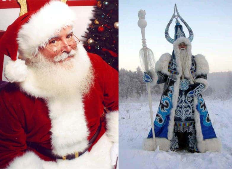 Santa Claus vs Ded Moroz. Say what you will about Moroz, but he has style!