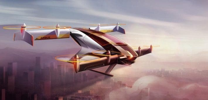 Artist impression of Airbus' flying vehicle. Credit: Airbus.