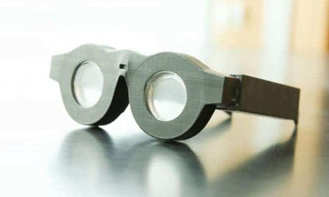 These liquid-based glasses can automatically adjust the focus on what a person is seeing. Credit: Dan Hixson/University of Utah College of Engineering