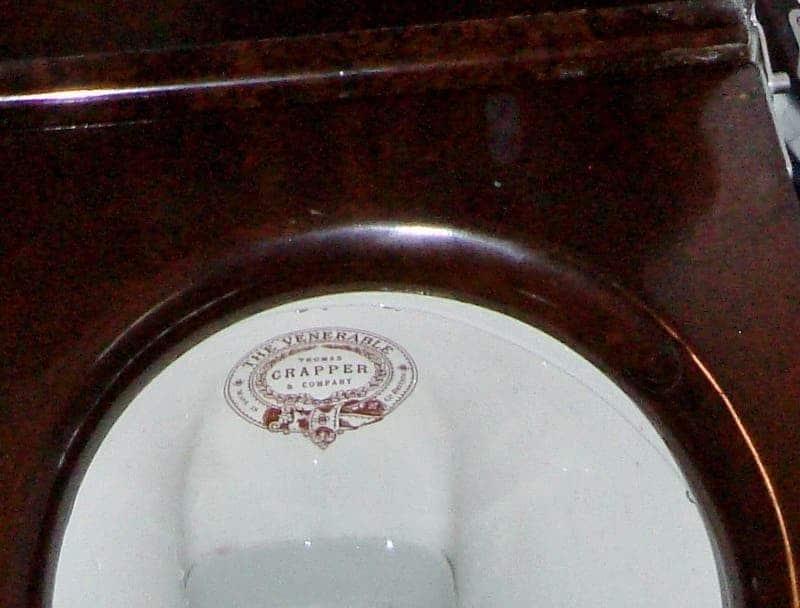 "Genuine Crapper Toilet: ""Crapper's Valveless Waste Preventer No. 814."" Credit: Sat Nav and Cider."