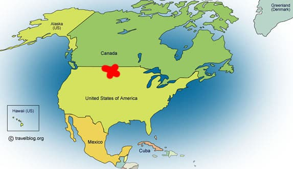 The dead center of North America is serendipitously located in a