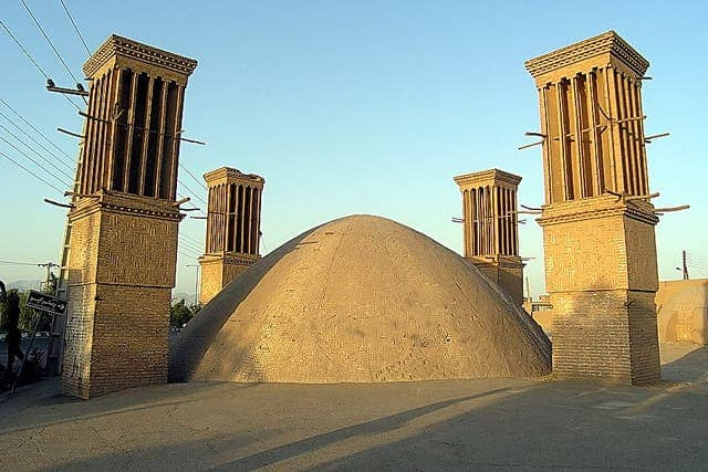 Persian wind catchers are still employed to this day. Credit: Flickr User Pilar Torres.