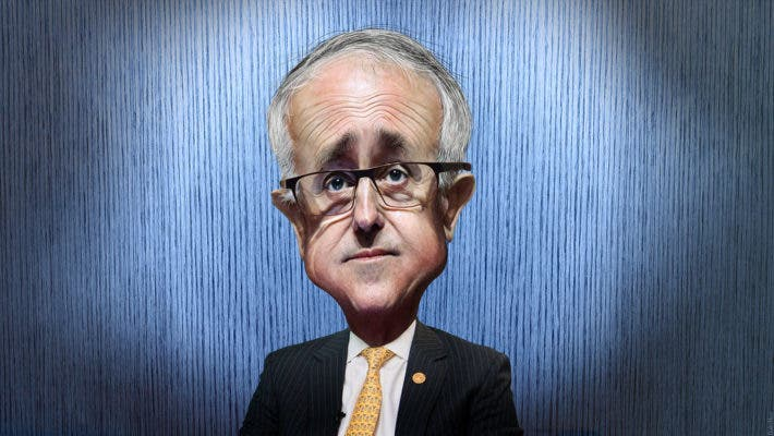 Caricature of Malcolm Turnbull, the 29th Prime Minister of Australia and Leader of the Liberal Party. Credit: Flickr // DonkeyHotey.