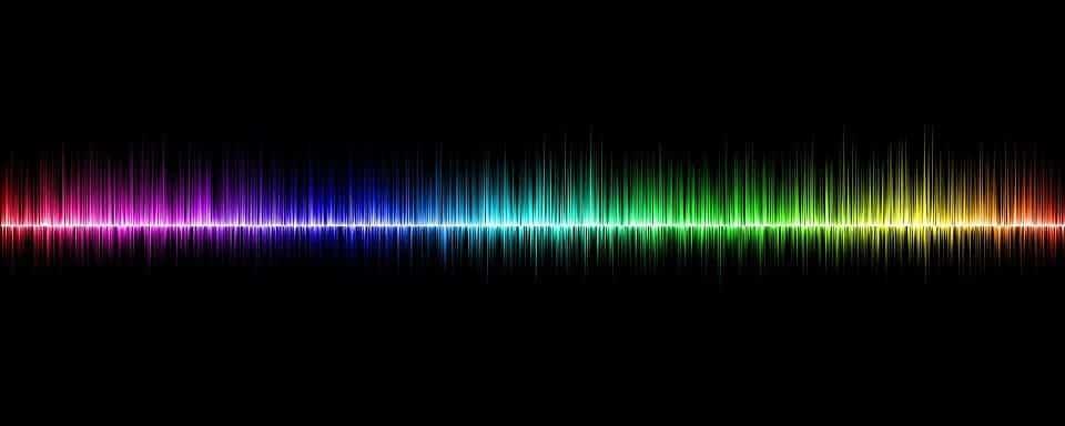 Rainbow Colored Sound Wave Image Credits Pixabay