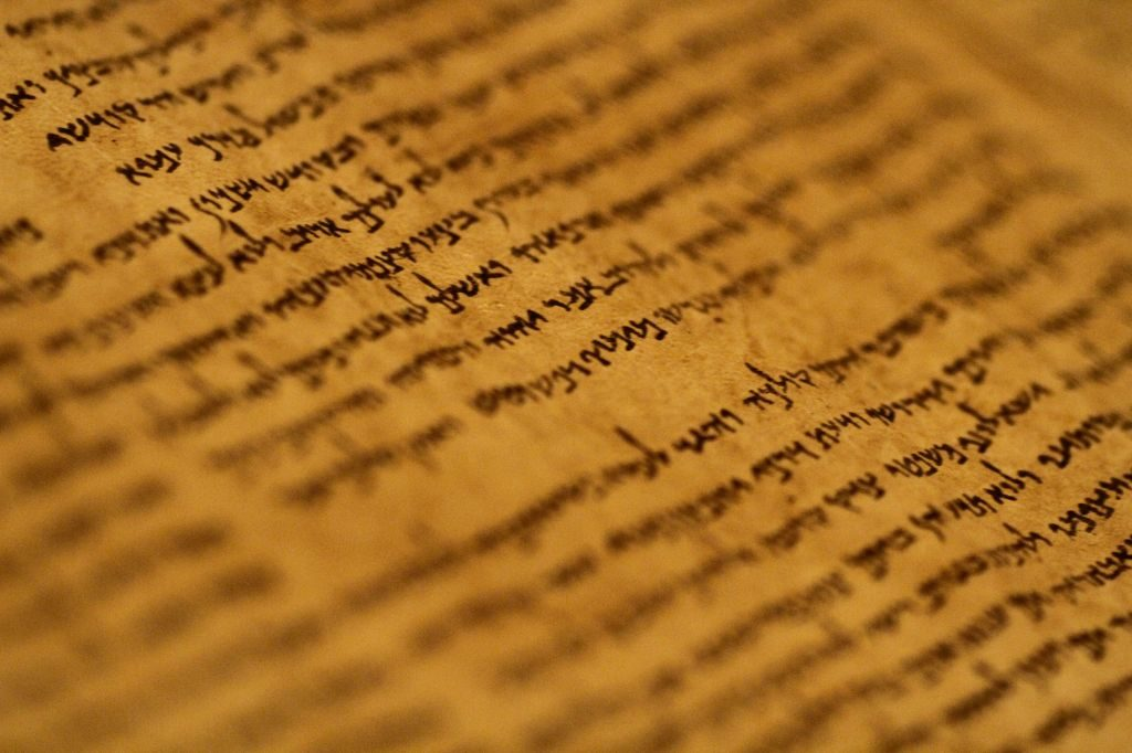 A beautiful manuscript from the Dead Sea Scrolls collection on display at the Israel Museum in Jerusalem. It's almost 2,000 years old. Credit: Miriam Alster/Flash90.